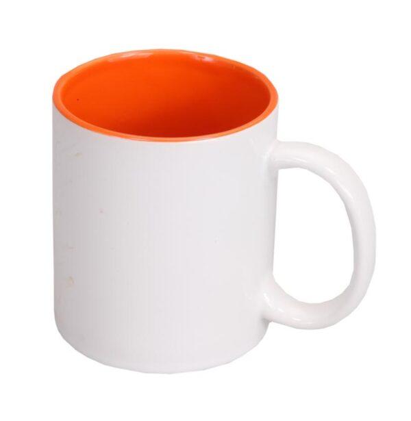 Tazza Sublimazione Interno Arancione 11oz