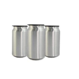 Lattina Sublimazione colore argento in alluminio