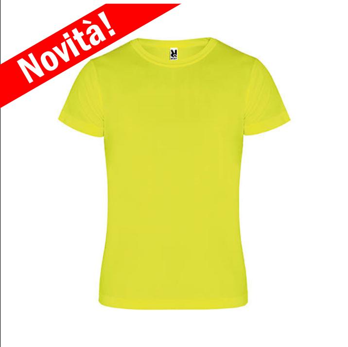 grande sélection sélection mondiale de en ligne à la vente T-Shirt FLUO Giallo per la Sublimazione